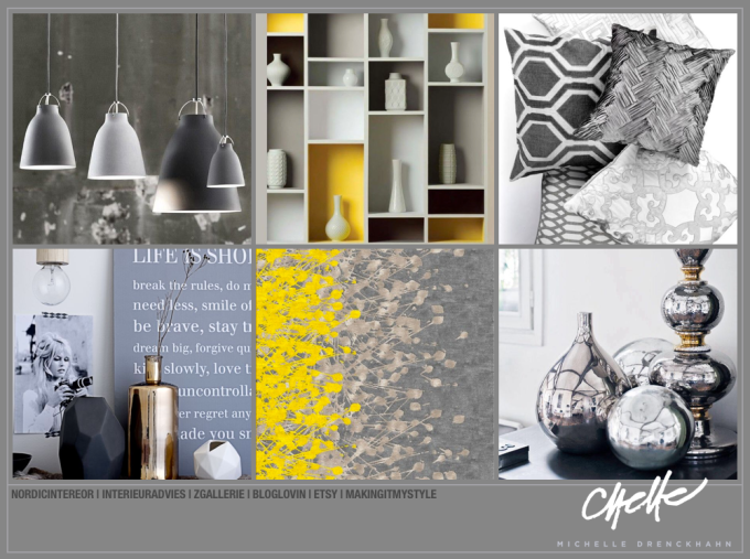 Grey Accessorie/Yellow Collage