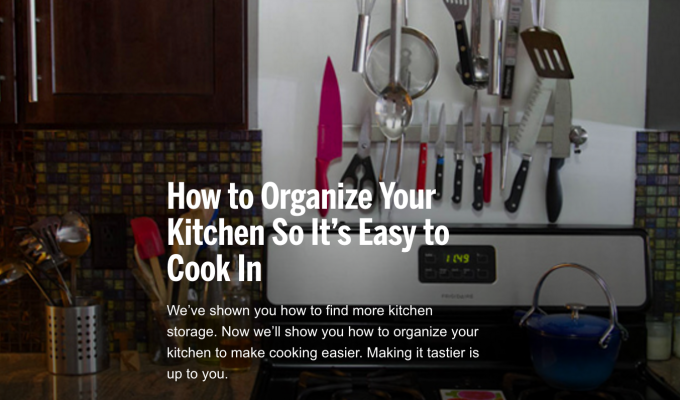 Publications: houselogic.com ~ How to Organize Your Kitchen